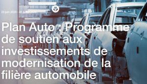 Appel à Manifestation d'Intérêt (AMI) pour soutenir les investissements de modernisation des entreprises de la filière automobile