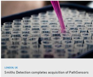 Smiths Detection finalise l'acquisition de PathSensors