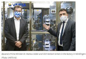 Varta étend sa production de batteries lithium-ion pour appareils portables et l'IoT