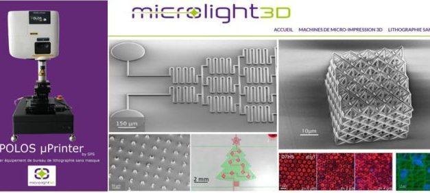 Lithographie sans masque : le Grenoblois Microlight3D s'associe à SPS Europe