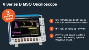 Oscilloscope avec 10 GHz de bande passante et jusqu'à 8 entrées | Tektronix