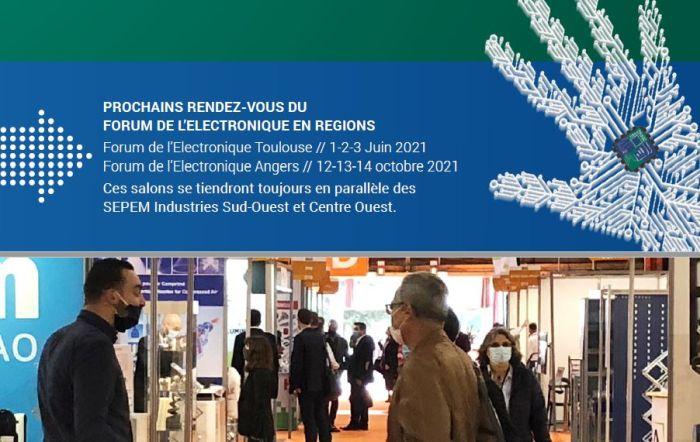 Deux éditions du Forum de l'Electronique en 2021 : Toulouse et Angers