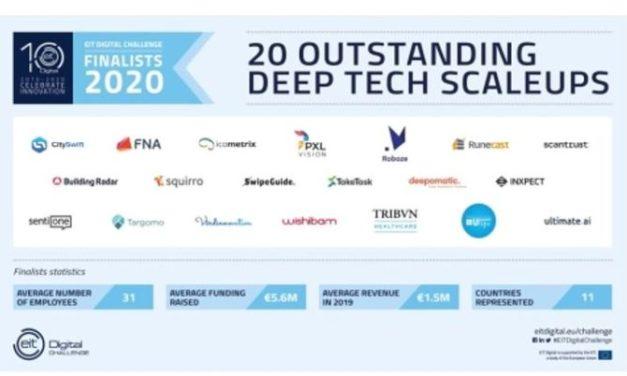 20 jeunes pousses européennes Deeptech en lice pour l'EIT Digital challenge