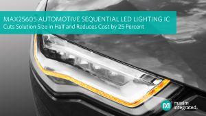 CI d'éclairage LED séquentiel pour l'automobile | Maxim