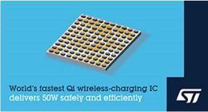 Circuit de charge sans fil Qi 50 W   STMicroelectronics