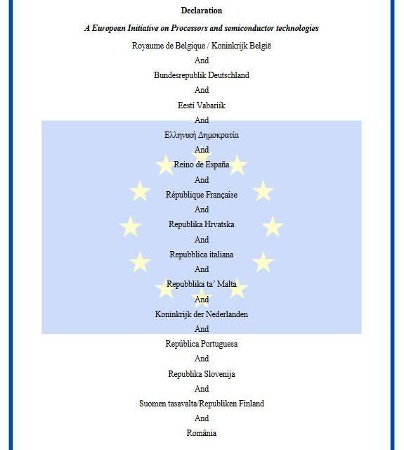 17 États lancent une initiative européenne pour les semiconducteurs