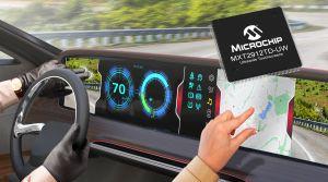 Solution monopuce qualifiée pour l'automobile pour écrans tactiles extra larges | Microchip