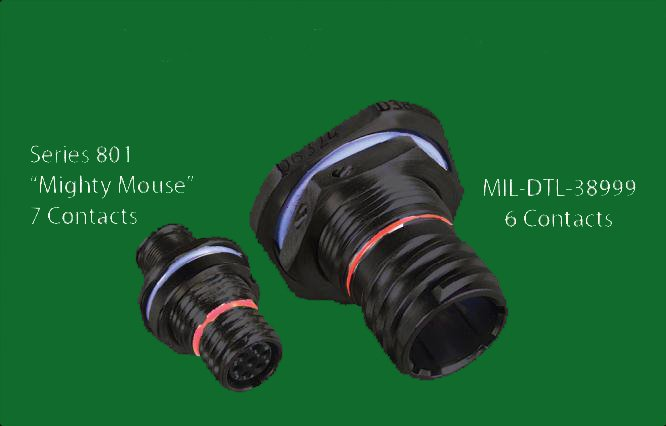 La moitié de la taille et du poids par rapport à la norme MIL-DTL-38999