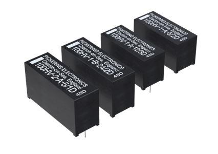 Les nouveaux relais reed haute tension SIL/SIP de Pickering Electronics présentent une résistance de bobine plus élevée pour une consommation réduite