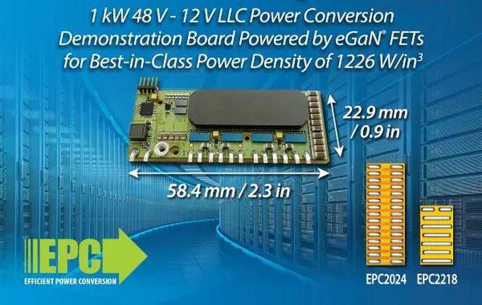 Le GaN booste la densité de puissance des convertisseurs abaisseurs de tension d'EPC