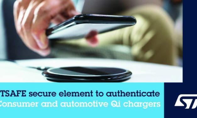 Un composant de ST authentifie les chargeurs sans fil et sécurise les wearables