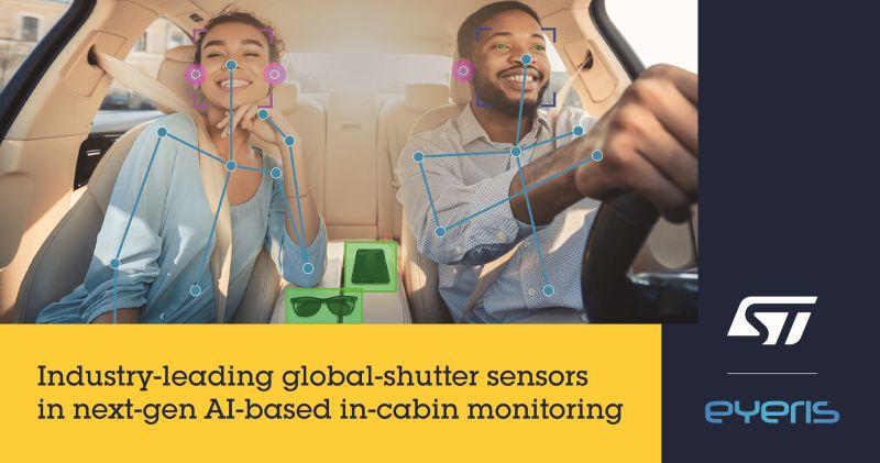 Surveillance dans l'habitacle: les imageurs de STMicroelectronics s'associent à l'IA d'Eyeris