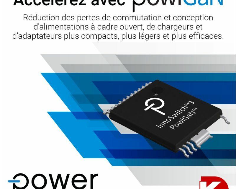 Digi-Key distribue les composants InnoSwitch3 en GaN de Power Integrations