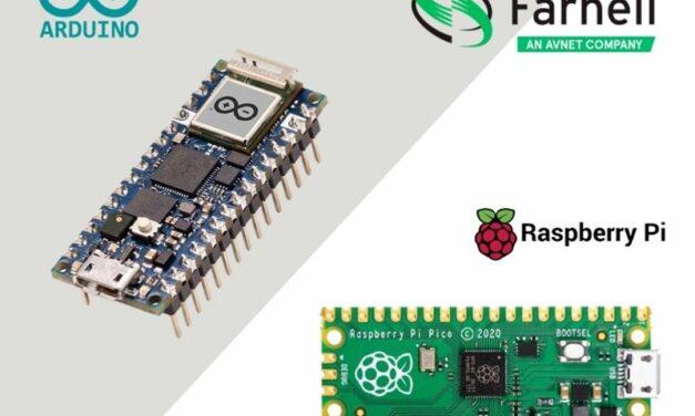 Les cartes Arduino Nano RP2040 Connect et Raspberry Pi Pico désormais disponibles en stock chez Farnell