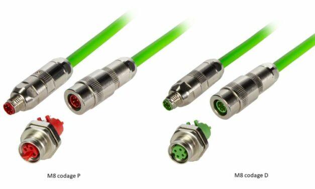 Connecteurs industriels M8 avec contacts autodénudants