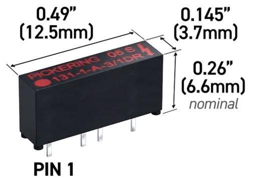 Relais reed haute tension miniature au cœur d'un banc de test de circuits intégrés