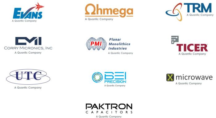 Quantic Electronics acquiert Paktron Capacitors, X-Microwave et BEI Precision