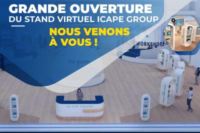 Icape Group ouvre son stand virtuel les 14 et 15 septembre prochains !