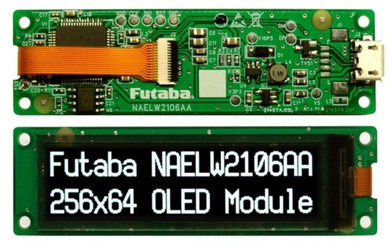 Digi-Key distribue les afficheurs Oled de Futaba