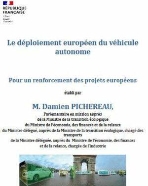 Soutien à l'innovation pour le véhicule autonome : remise du rapport Pichereau au gouvernement